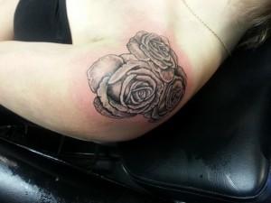 Gray Rose Tattoo