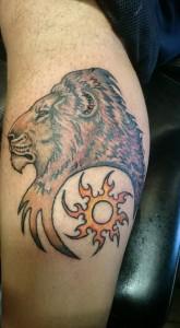 Sun Lion Tattoo