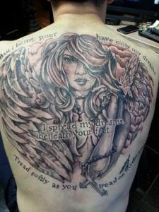 Angel Portrait Tattoo